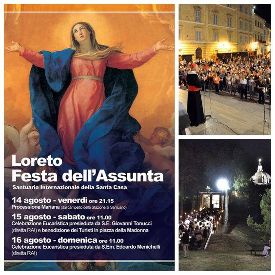 """On August 14th, at 21.00, the traditional """"Torchlight Assumption"""". FESTA DELL' #ASSUNTA nella #BasilicadiLoreto. Il 14 agosto, ore 21.00, tradizionale """"Fiaccolata dell'Assunta"""". #Pellegrinaggio notturno che percorre la #ScalaSanta di #Loreto e termina sulla piazza del #Santuario con la benedizione dei #fedeli. Il 15 agosto, Celebrazione Eucaristica presieduta dall'Arcivescovo del #SantuariodiLoreto, con esibizione della """"Cappella Musicale della Santa Casa""""."""