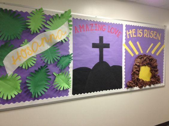 Easter bulletin boards for Sunday School | Easter bulletin board! Love it