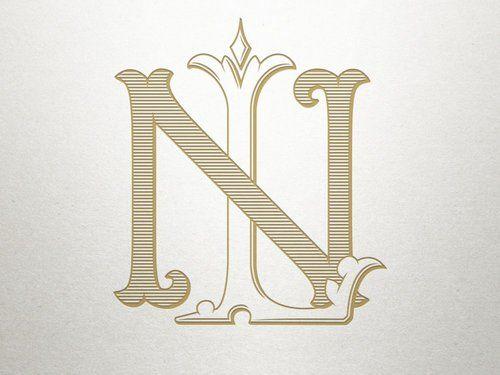 Ln Monogram Nl Monogram Monogram Logo Design Logo Design Monogram