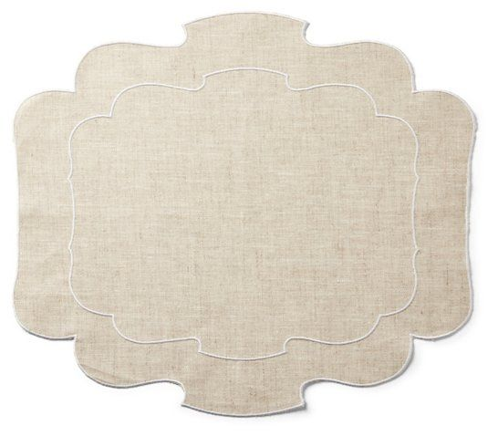 Utti Place Mat Natural White 35 00 Placemats Holiday Table Settings Decor