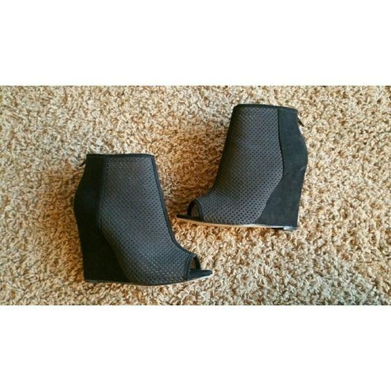 Wedge Black Booties Wedge Black Booties Shoes Ankle Boots & Booties