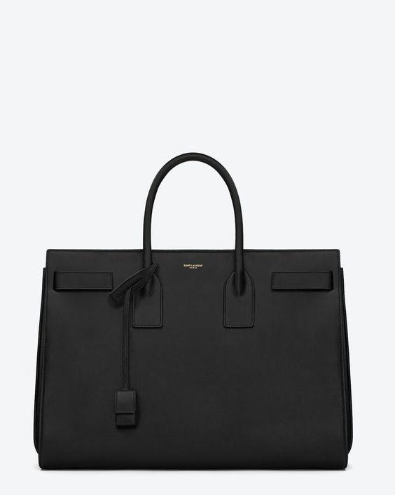 ysl yves saint laurent black leather double handbag handbag purse shoulder bag
