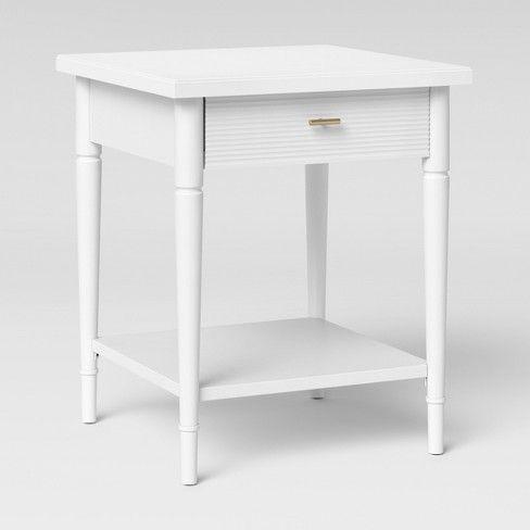 Cambridge Turned Leg End Table White Threshold Beige White