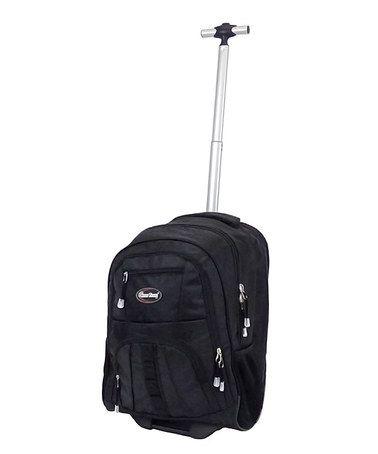 Look at this #zulilyfind! Black Travel Rolling Backpack #zulilyfinds