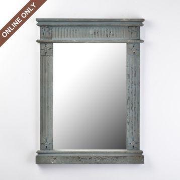 Distressed Gray Teresa Mirror
