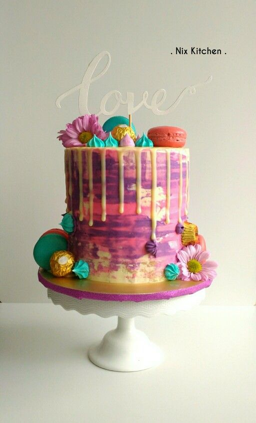 Drip Cakes Watercolors And Cakes On Pinterest