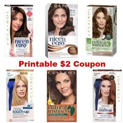 Clairol Hair Color Printable 2 Coupon Printable Coupons Clairol Hair Color Best Buy Coupons