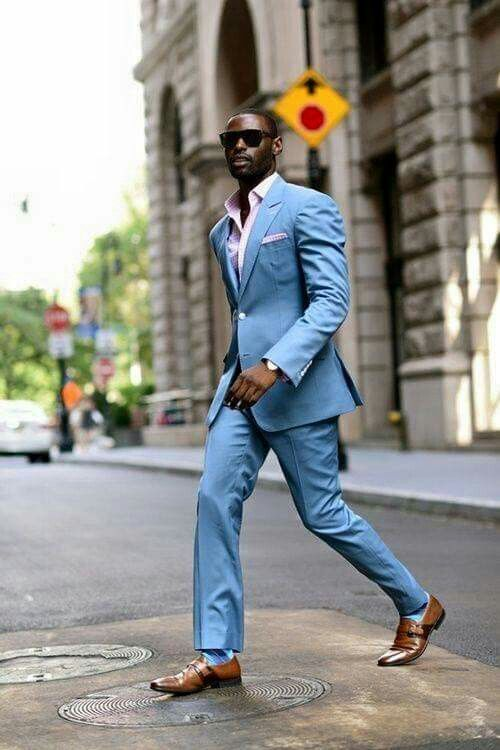 Carolina Blue Suit Strut | Dressed to Impress | Pinterest