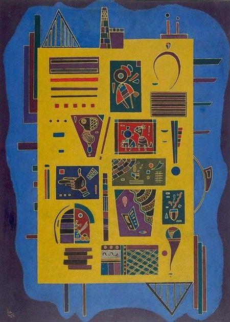 Painter Wassily Kandinsky. Painting. Conglomerat. 1943 year