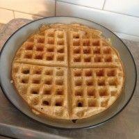 Overnight yeasted spelt waffles