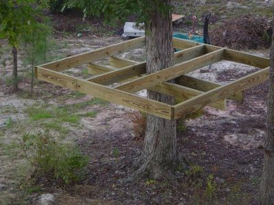 How to make a simple treehouse hope grandma can make this for Easy to build tree houses