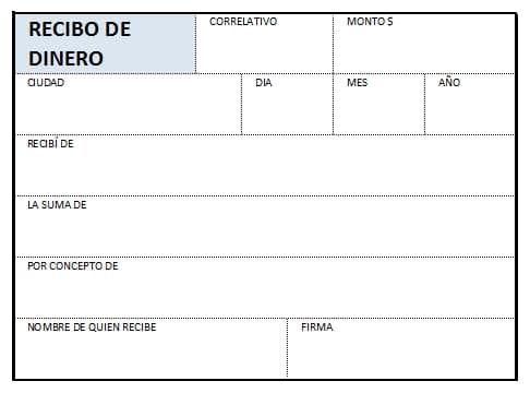 Recibo De Dinero En Excel Formato Para Imprimir En Hoja Carta Recibo Modelo Hojas De Presupuesto Recibo