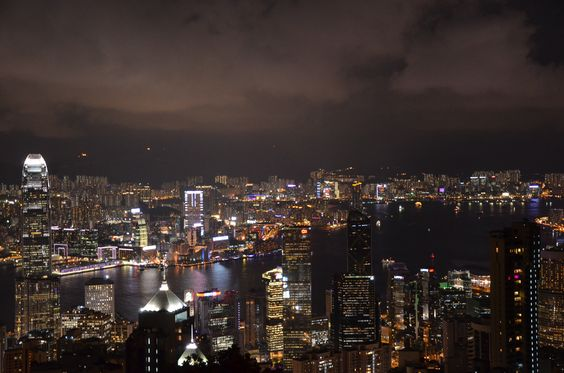 The peak in Hong Kong, China with a whole view of the city at dusk. anntardiffphotography.blogspot.com