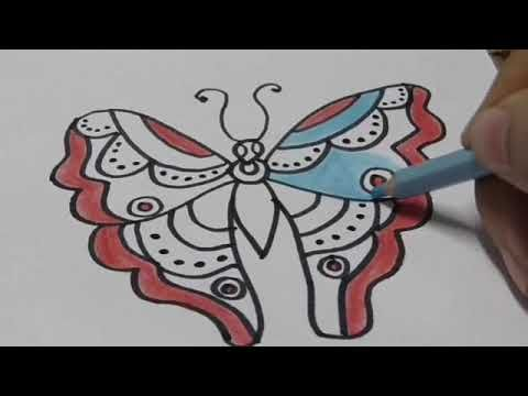 رسم فراشة بطريقة سهله Youtube Interactive Blog