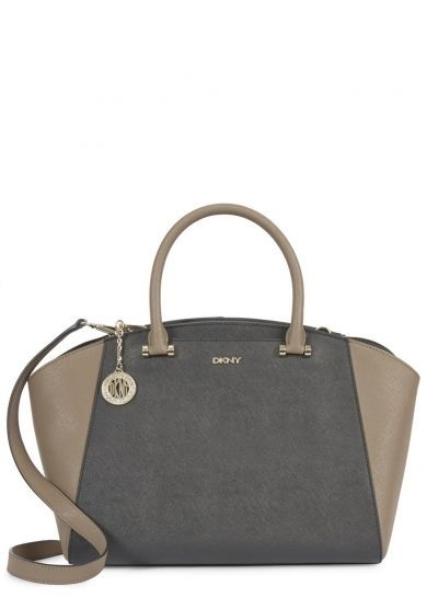 DKNY BRYANT TWO TONE SAFFIANO LEATHER TOTE BAG- rrp £240 - BNWT FROM H.NICHOLS