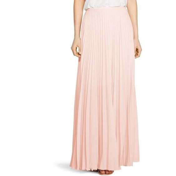 Pleated maxi skirt! Beautiful blush pleated maxi skirt! Brand new ...