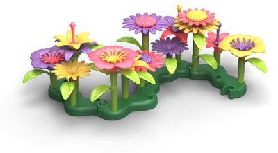 Talk about flower power! With the Green Toys™ Build-a-Bouquet, budding florists can create countless floral arrangements while saving energy and reducing greenhouse gas emissions. Made in the USA from 100% recycled plastic milk jugs.