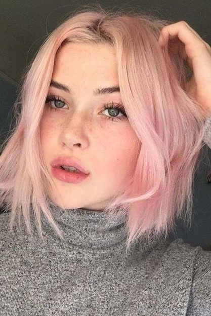 28 Short Pastel Hair Color Ideas For 2019 Fashion 2d Pastel Hair Short Light Pink Hair Hair Color Unique