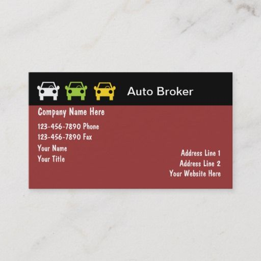 Auto Broker Business Cards Zazzle Com Business Card Text