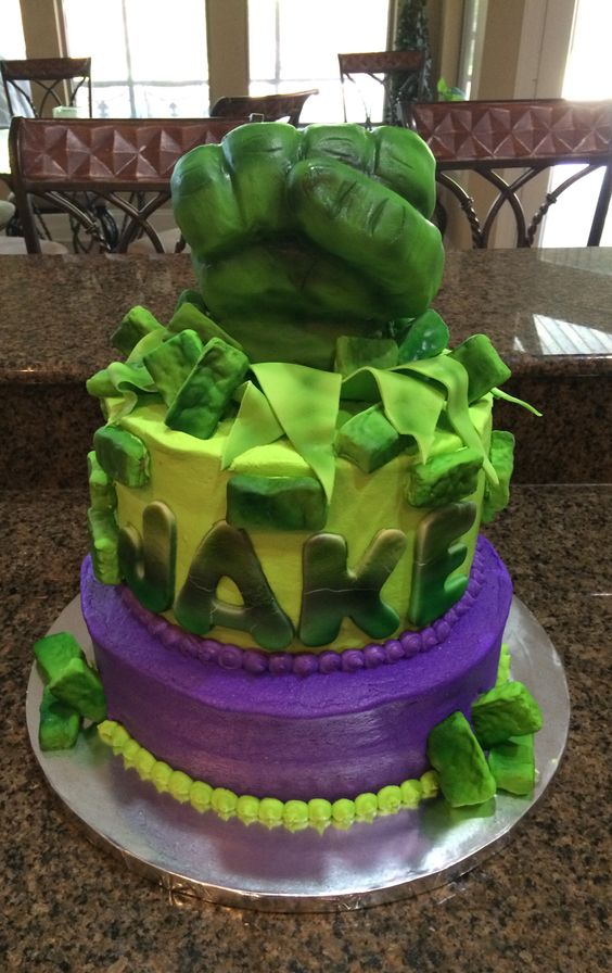 Incredible Hulk Cake Cakes By Shelley Pinterest Hulk