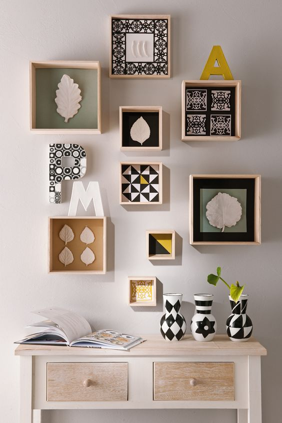 Une jolie d coration murale truffaut d coration pinterest graphism - Decoration etagere murale ...