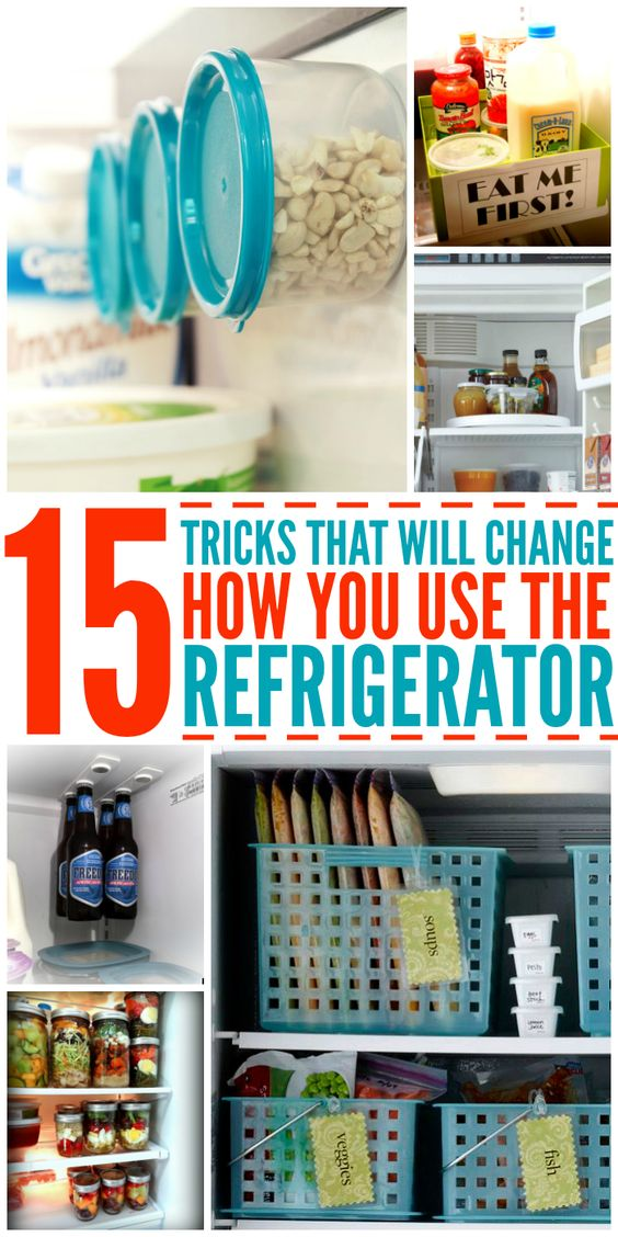 15 tricks that will change the way you use your fridge organization ideas kitchen - How to use the fridge in an ingenious manner ...
