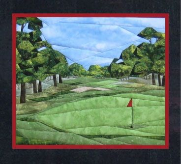 Golf Anyone? Pieced Quilt Pattern by Cynthia England at England Design