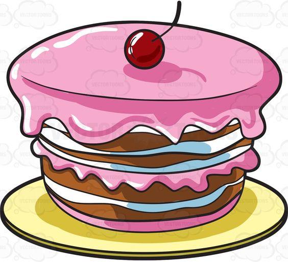 A round homemade cake #cartoon #clipart #vector #vectortoons #stockimage #stockart #art