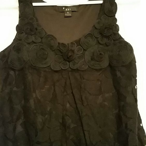 Black soutache lace bubble dress Bust about 17 in across, Waist goes out with skirt,  Length a little over 32 in. Forever 21 Dresses