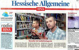 Hessische/Niedersächsische Allgemeine Zeitung Juli 2014 I.