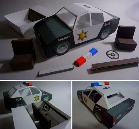 Classic Police Car Paper Model By Papermau Download