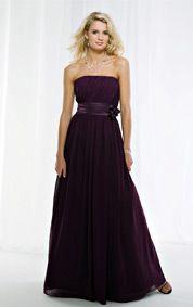 Stunning Chiffon A-line Strapless Bridesmaid Dress