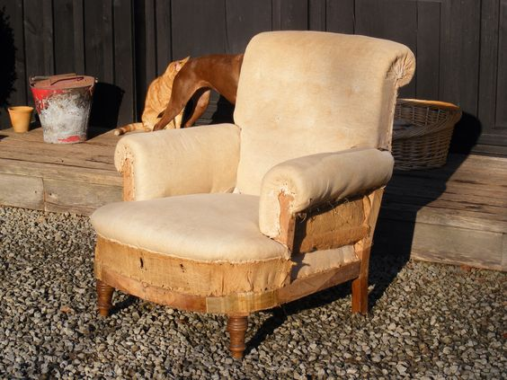 An early to mid 19th Century Scroll Back style Howard chair.  Height - 88cm Width - 84cm Depth of seat - 60cm. SOLD