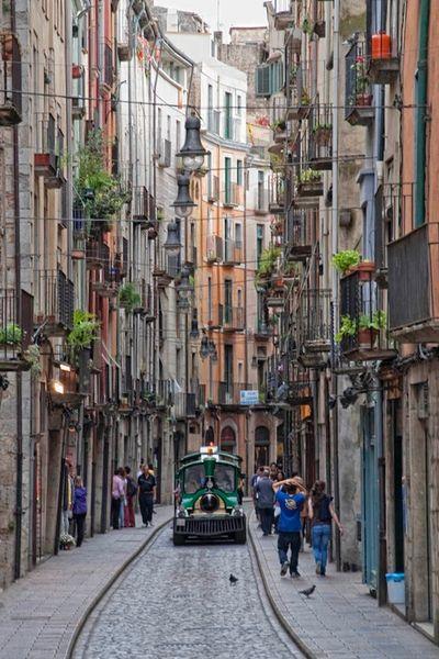 Narrow streets of Genoa, Italy