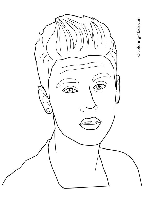 coloring pages justin bieber print - photo#31
