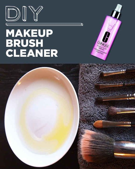 how to clean makeup brushes with household items