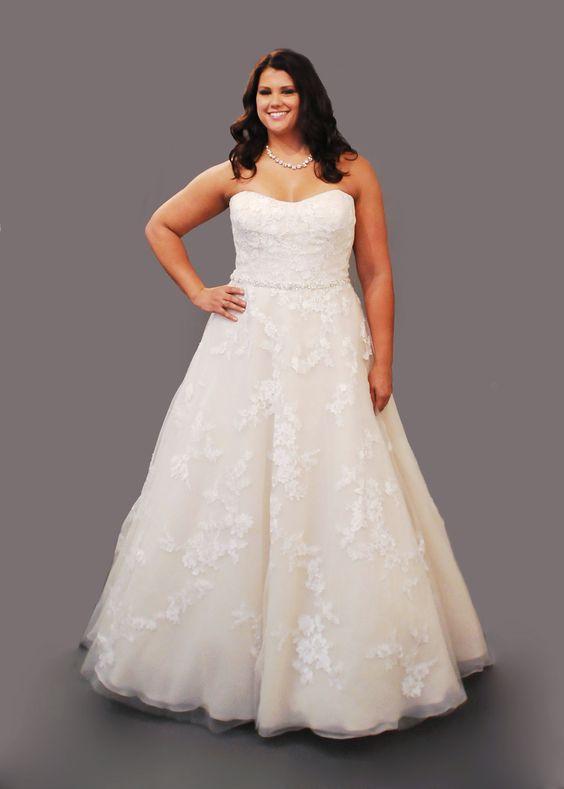 Curvy bride plus size wedding dress plus size fashion for Plus size champagne wedding dresses