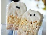 Yummy ghost Krispy treats