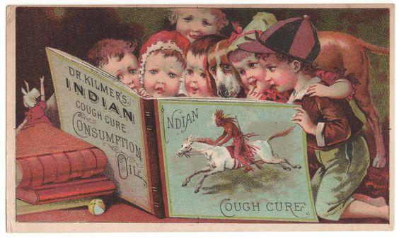 Trade Card Collection 043 - Dr. Kilmer's Indian Cough Cure - Front.