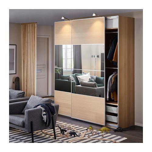 Ikea Pax Auli Sliding Mirror Door Wardrobe