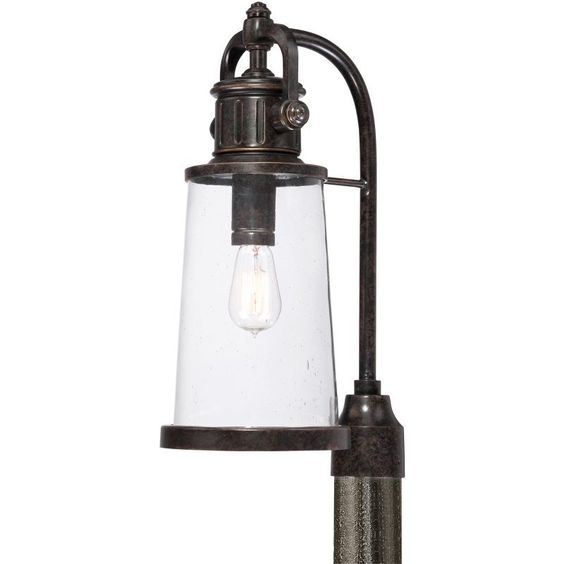 Quoizel sdn9008 steadman 1 light 21 tall post lantern with vintage quoizel sdn9008 steadman 1 light 21 tall post lantern with vintage edison bulb imperial bronze aloadofball Images