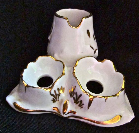 COQUETIER DOUBLE EN PORCELAINE DE LIMOGES in Céramiques, verres, Céramiques françaises, Limoges | eBay