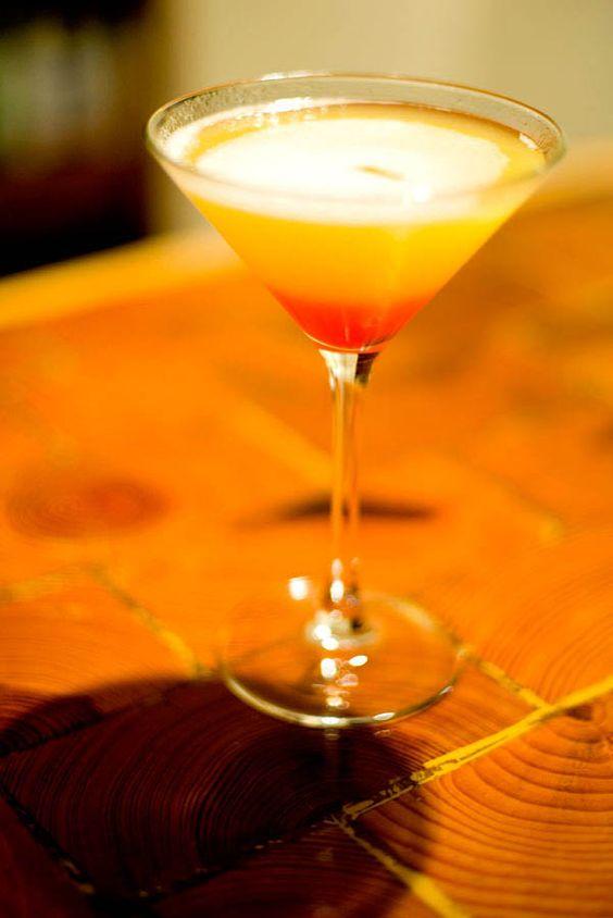 Pineapple Upside-Down Cake Martini!  Delish.