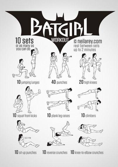 Train Like a Superhero|Neila Rey Batgirl Stonger Fitness Women workouts