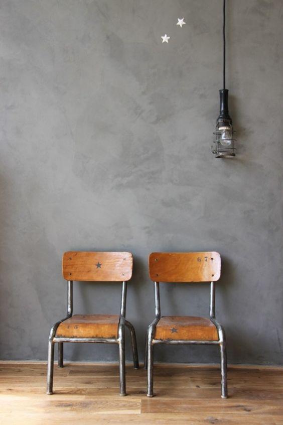 Tijdloos mooie combinatie, grijs Italiaans stuc met licht hout. Dit verveelt niet snel..| stucamor