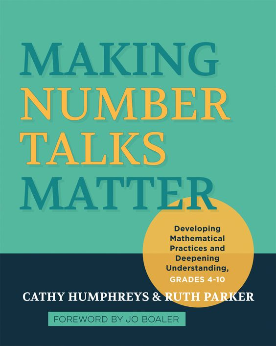 One of my go-to books for Number Talks K-8 Making Number Talks Matter | #MathSummerReading
