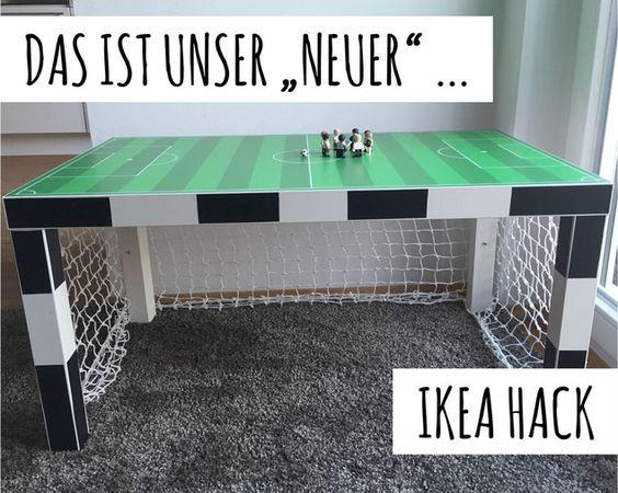 Fußballzimmer - IKEA HACK Fußballtor www.limmaland.com