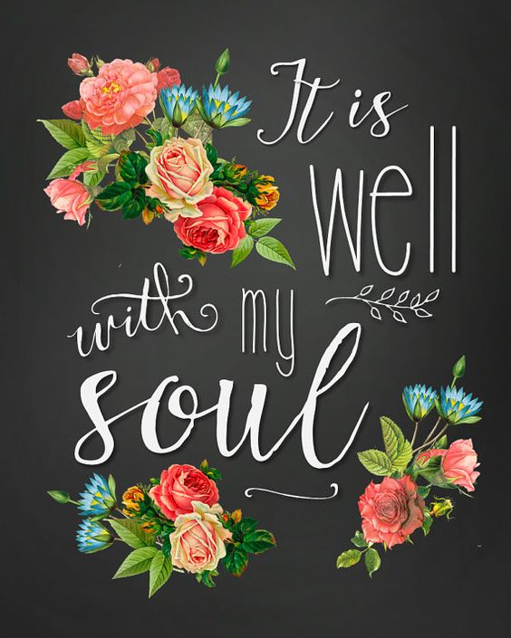 It Is Well With My Soul Shabby Chic Floral Printable by TheRedHousePrintShop on Etsy, $4.00