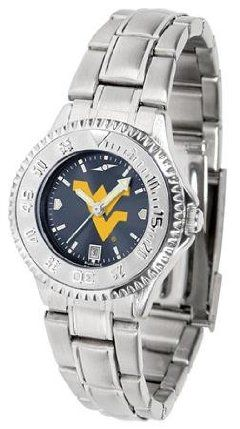 West Virginia Mountaineers WVU NCAA Womens Steel Anochrome Watch by SunTime. $86.95. Showcase the hottest design in watches today! The functional rotating bezel is color-coordinated to compliment your favorite team logo. The Competitor Steel utilizes an attractive and secure stainless steel band.The AnoChrome dial option increases the visual impact of any watch with a stunning radial reflection similar to that of the underside of a CD. Perceived value is increased ...