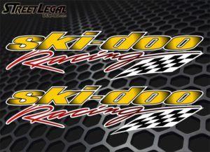 2 Ski-Doo Racing Vinyl Sticker Decals